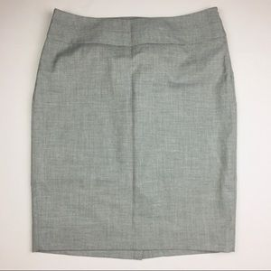 NWT The Limited Gray Pencil Skirt side zip sz 6